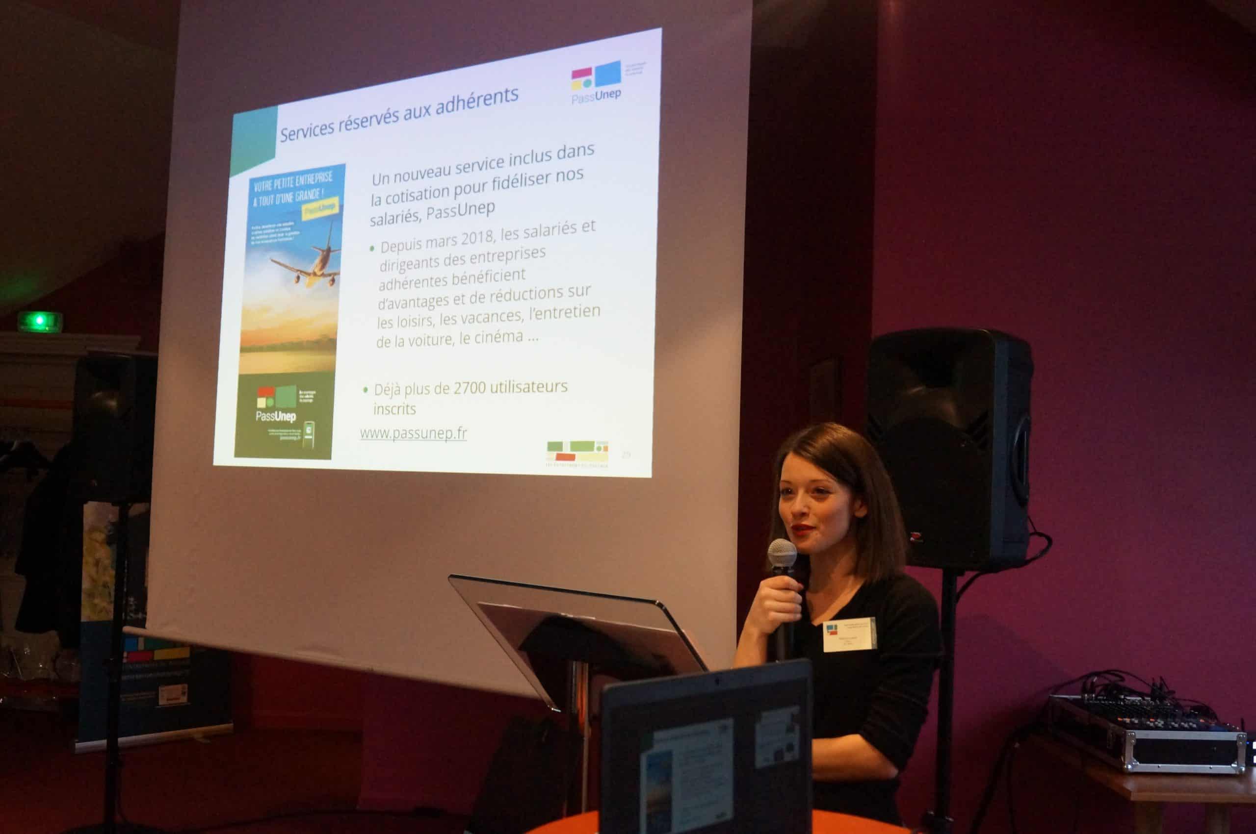Présentation du Service Achats et de PassUnep par Justine Prébolin