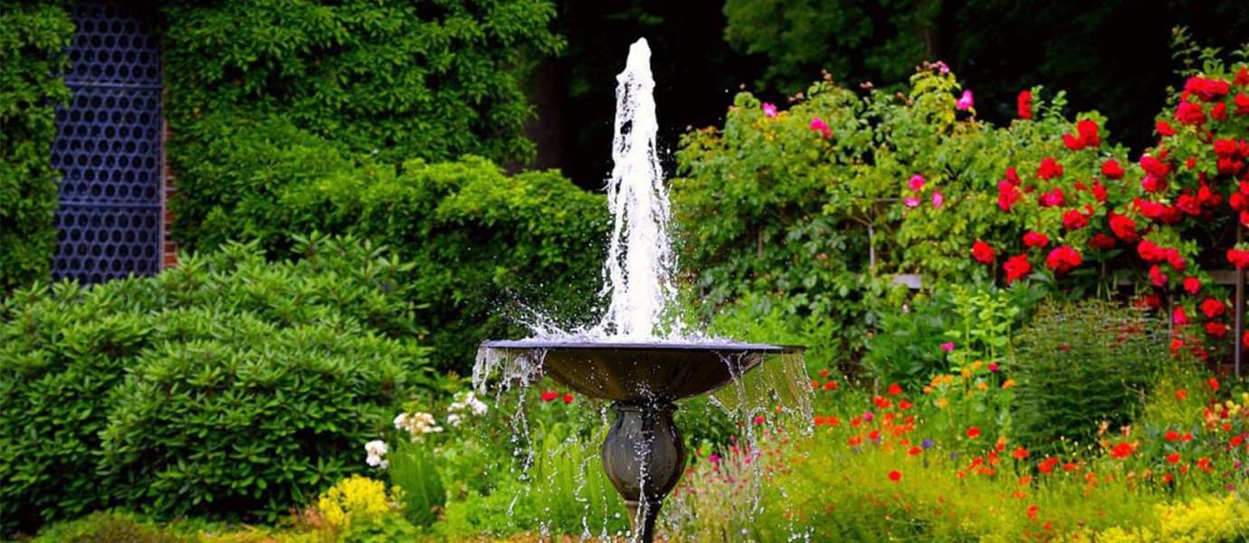 bassin - fontaine - jardin