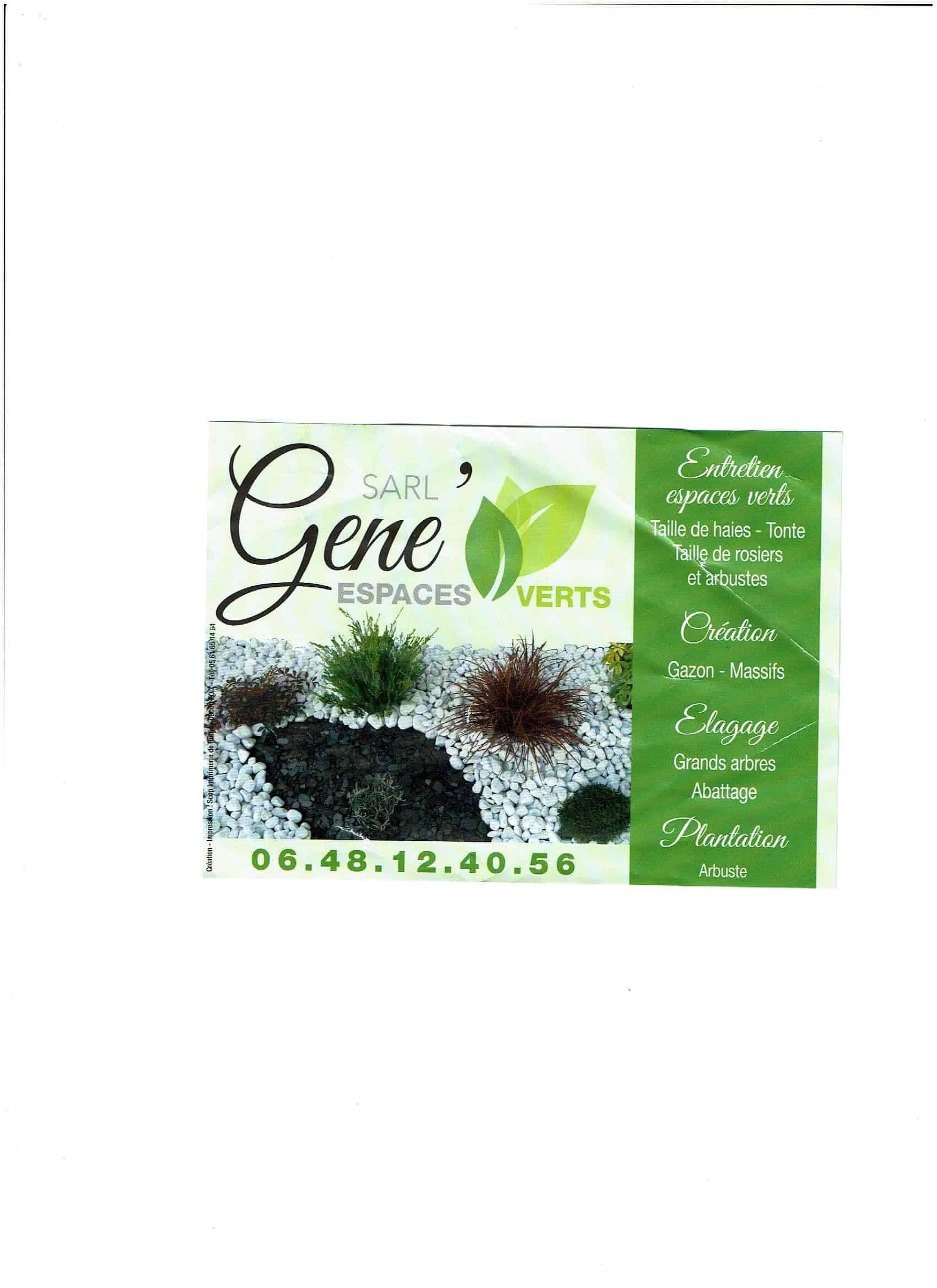 Logo GENE ESPACES VERTS