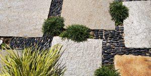 Grimaldi Paysages, Unep, Détail Jardin Zen Valence (c)Grimaldi Paysages